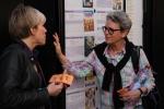 Carole and Edna outside Grenoble cinema, April 2013